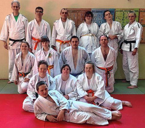 Die Teilnehmer am Judolehrgang aus Grenzach-Wyhlen stellten sich zum Gruppenbild.  Foto: zVg Foto: Die Oberbadische