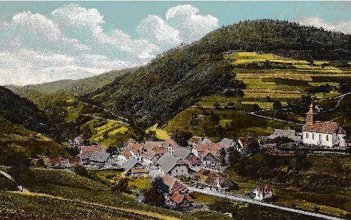 Neuenweg nach dem Brand im Jahr 1903.   Foto: zVg Foto: Markgräfler Tagblatt
