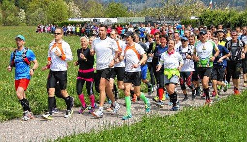 """Eine Rekordteilnahme verzeichneten die Organisatoren beim dritten """"Wiesentäler Wasserlauf"""".   Fotos: Ralph Lacher Foto: Markgräfler Tagblatt"""