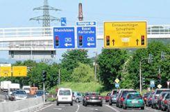 """Der Lörracher Autobahnanschluss """"Hasenloch"""" ist einer der am stärksten belasteten Knotenpunkte im Regierungsbezirk Freiburg. Foto: Archiv Foto: Die Oberbadische"""