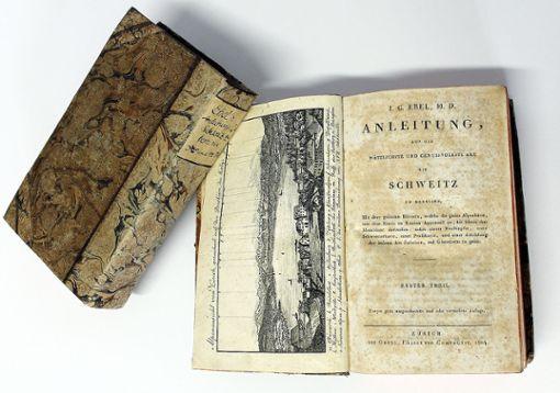 Der von Johann Peter Hebel benutzte Reiseführer von Gottfried Ebel von 1804   Foto: zVg/Sammlung Dreiländermuseum Foto: Die Oberbadische