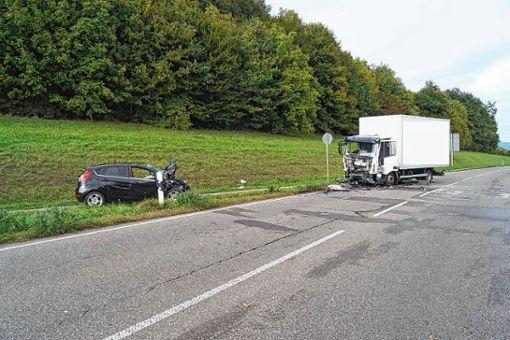 Die Polizei sucht Zeugen dieses Unfalls.   Foto: zVg/Polizei Foto: Die Oberbadische