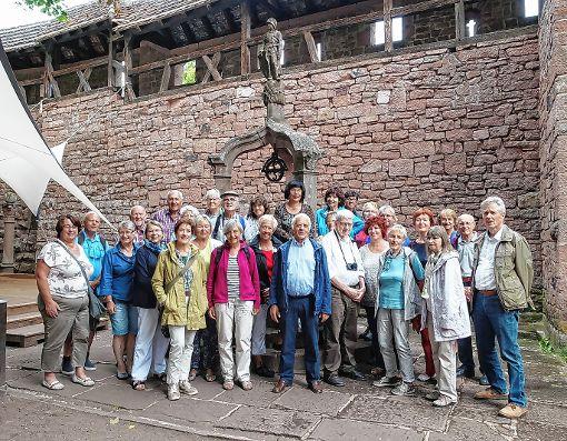 Der Jahresausflug des Förderkreises führte auf die Hochkönigsburg.    Foto: zVg Foto: Weiler Zeitung