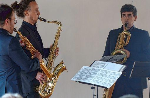Ein Hörvergnügen war der Auftritt des Fukio Saxofonquartetts.       Foto: Jürgen Scharf Foto: Die Oberbadische