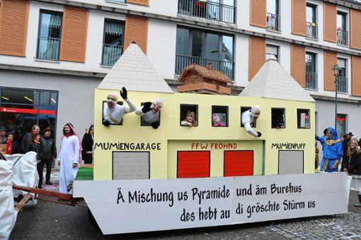 Der Aiterner Elferrat glaubt, dass Fröhnd bald von Mumien bewohnt wird. Foto: Markgräfler Tagblatt