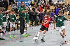 Wiesental-Endspiel: Der FC Hausen (grün) bekommt es bei den E-Junioren mit dem  TuS kleines Wiesental zu tun. Foto: Die Oberbadische