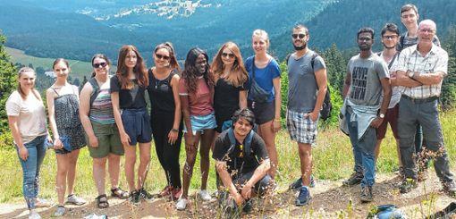 Die Teilnehmer während der Praxistour am Feldberg    Foto: zVg Foto: Die Oberbadische