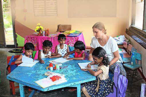 Sarah Trinler arbeitete einige Wochen in einem Hilfsprojekt in Sri Lanka mit.   Foto: zVg Foto: Markgräfler Tagblatt