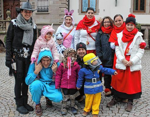 In Fasnachtsstimmung war der Schönauer Narrennachwuchs.     Foto: R. Hölzle Foto: Markgräfler Tagblatt
