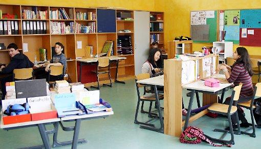 """Das individuelle, angeleitete Lernen im """"Lernatelier"""" ist für die Gemeinschaftsschule charakteristisch.  Foto: Markus Greiß Foto: Die Oberbadische"""