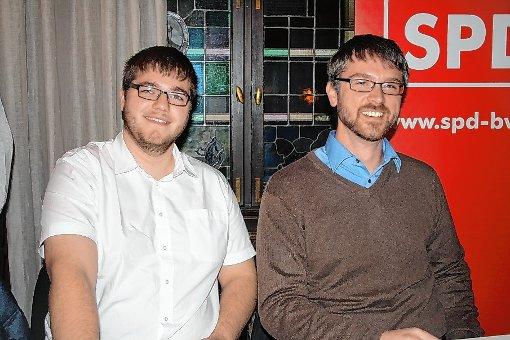 Patrik Schnell (l.) und Jonas Hoffmann möchten SPD-Bundestagskandidat werden.   Foto: Markus Greiß Foto: Die Oberbadische