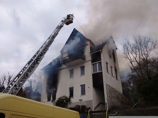 Die Feuerwehr löschte den Brand. Foto: www.7aktuell.de/Oskar Eyb