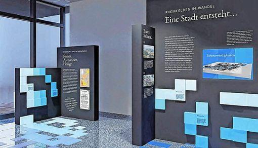 Besonders auf digitale Medien setzt das neue Konzept für die Gestaltung des Schauraums für die Rheinfelder Stadtgeschichte.   Modell: Two/Elf–Büro für Gestaltung Foto: Die Oberbadische