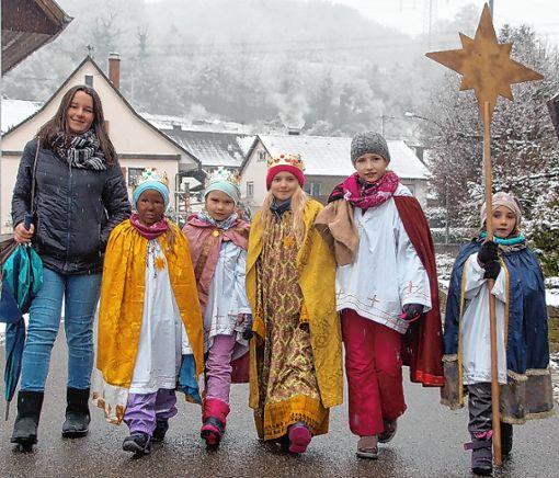 Auch auf dem Dinkelberg wie hier in Nieder-Eichsel waren am Wochenende die Sternsinger unterwegs. Foto: Petra Wunderle