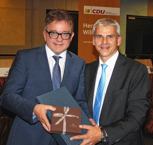 Guido Wolf, CDU-Spitzenkandidat  für die Landtagswahl (l.), und Dr. Patrick Rapp MdL                Foto: zVg Foto: Weiler Zeitung