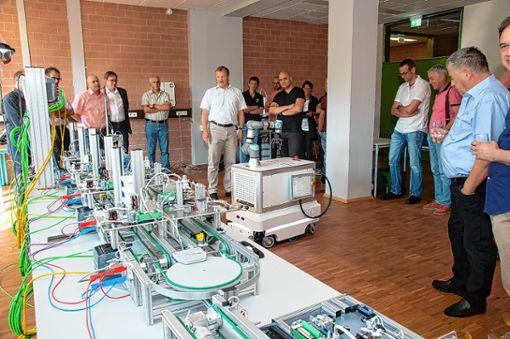 Der modernisierte Werkstattbereich der Georg-Kerschensteiner-Schule wurde präsentiert.      Foto: Volker Münch Foto: Weiler Zeitung