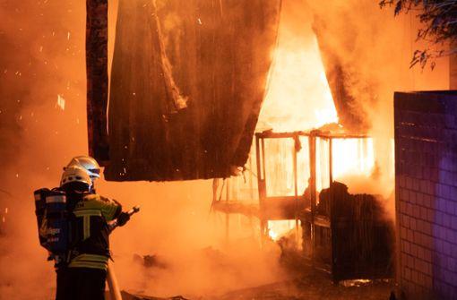 Nach aktuellem Stand der Ermittlungen kann von einer Brandstiftung ausgegangen werden. Foto: Volker Münch