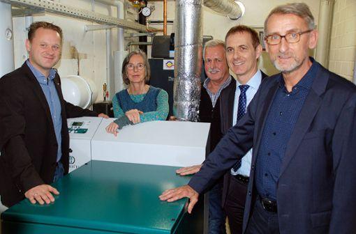 Gruppenbild mit (v.l.) Thomas Basler, Regine Rohrbach, Walter Kolb, Jörg Lutz und Armin Schuster. Foto: Peter Ade