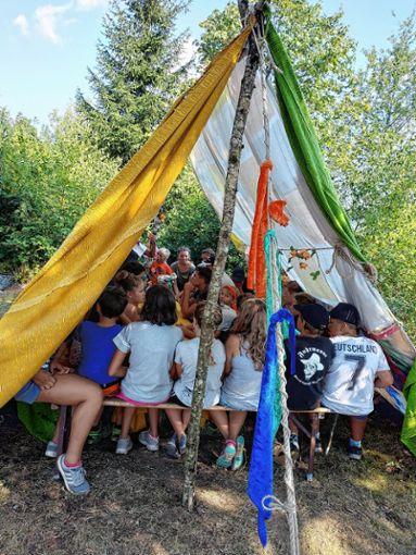 Viel Spaß hatten die Kinder aus Gresgen bei ihrem Zeltlager.    Foto: zVg Foto: Markgräfler Tagblatt