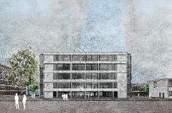 """Baubeginn für das  """"Flexible Office Building"""" von Roche Pharma in Grenzach ist im Mai oder Juni des kommenden Jahres.   Grafik: zVg Foto: Die Oberbadische"""