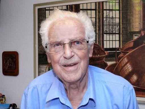 Eugen Palmert kurz vor seinem 85. Geburtstag.              Archivfoto: Gottfried Driesch Foto: Die Oberbadische