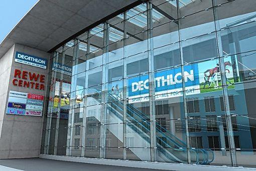 Das Sportartikelgeschäft Decathlon eröffnet Ende des Jahres am Alten Markt.    Foto: zV g Foto: Die Oberbadische