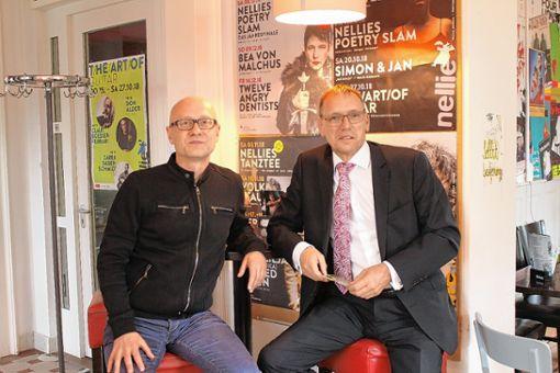 Patrick Dengl (l.) und André Marker sind gespannt auf die neue Veranstaltungsreihe.   Foto: Denis Bozbag Foto: Die Oberbadische