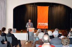 CDU-Bundestagsabgeordneter Armin Schuster bedankte sich bei seinen Parteifreunden für die Unterstützung.   Foto: Michael Werndorff Foto: Die Oberbadische