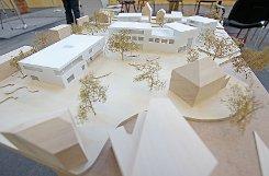 Der Entwurf des Architekturbüros Thoma.Lay.Buchler und acht weitere wurden am Wochenende im Atelier Schöpflin ausgestellt. Foto: Kristoff Meller Foto: mek