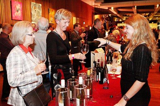Impressionen von der Weinmesse im Burghof. Foto: Kristoff Meller Foto: Kristoff Meller