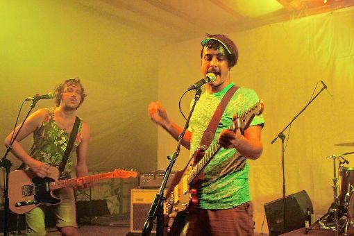 Musik abseits des Mainstreams boten die Bands beim Holzrock-Open-Air im Schopfheimer Sengelewäldchen.  Foto: Anja Bertsch Foto: Markgräfler Tagblatt