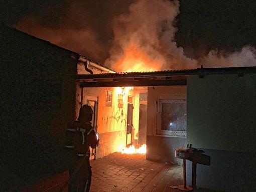 Bei dem Brand ist ein Schaden in Höhe von 80000 Euro entstanden.   Foto: Feuerwehr Foto: Weiler Zeitung