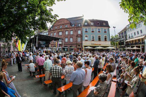 Impressionen des dritten Fronleichnamsgottesdienstes der katholischen Kirchengemeinde auf dem Alten Marktplatz. Foto: Kristoff Meller Foto: Kristoff Meller