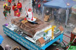 Der Fliegende Teppich bescherte dem  Städtli-Zinken den Sieg in der Wertung der Vogtenwagen. Foto: Markgräfler Tagblatt