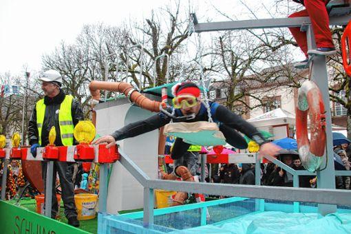 Bei den Zinken-Wagen hatten die Schlatthölzler mit ihren Trockenschwimmern die Nase vorn.    Fotos: Werner Müller Foto: Markgräfler Tagblatt