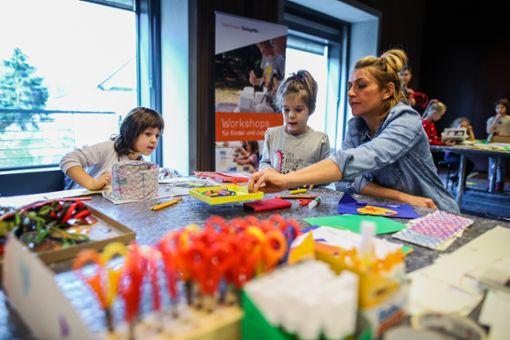 Die kleinen Gäste konnten auch handwerklich kreativ werden. Foto: Kristoff Meller