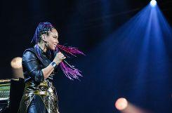 Alicia Keys bei ihrem ersten von zwei Auftritten bei der Baloise Session. Foto: Kristoff Meller Foto: mek
