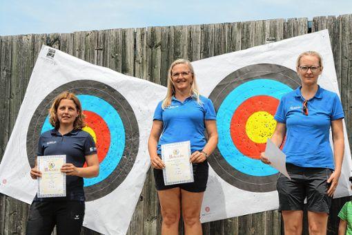 Karin Schinken, Ute Rapp und Elisabeth Keßler freuen sich auf den Wettkampf.     Foto (Archiv): zVg Foto: Markgräfler Tagblatt