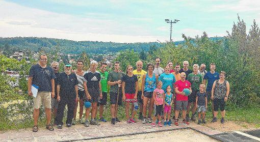 Fitness-Check bestanden: Absolventen des Deutschen Sportabzeichens beim TSV    Foto: kn Foto: Weiler Zeitung