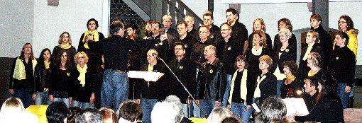 Der Rockchor Ötlingen trat vor vollbesetzten Reihen in der Altweiler Kirche auf und begeisterte das Publikum.   Foto: Daniela Buch Foto: Weiler Zeitung