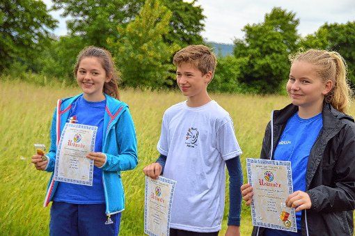 Nele Köberlin, Simon Spiller und Marina Ruch waren bei den Kreismeisterschaften erfolgreich.  Fotos: zVg Foto: Markgräfler Tagblatt